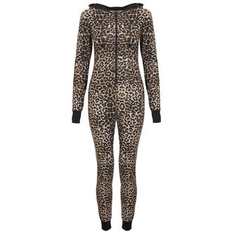 View Item Brown Leopard Print Pyjama Onesie